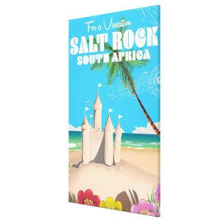 Salt Rock South Africa vintage travel poster Canvas Print