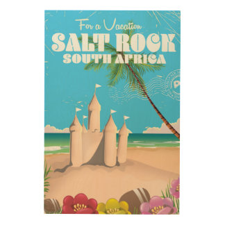 Salt Rock South Africa vintage travel poster Wood Canvases