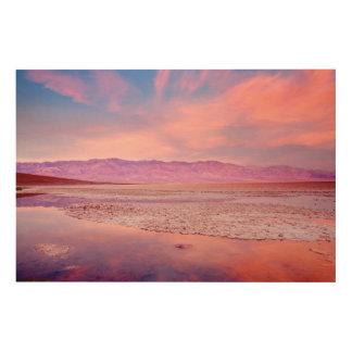 Salt Water Lake Death Valley Wood Prints