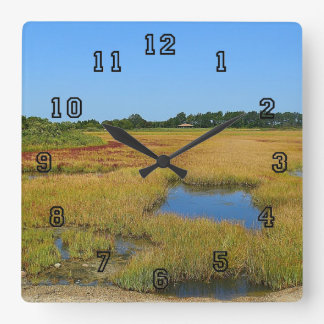 Salt Water Marsh Wall Clock