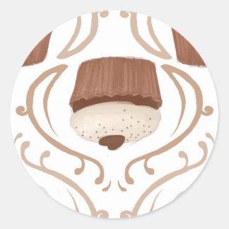 Salted Caramel Cupcake Round Sticker