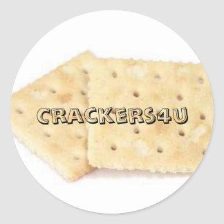 saltines, Crackers4u Classic Round Sticker