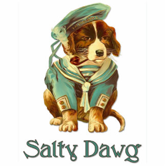 Salty Dawg Photo Sculpture Key Ring