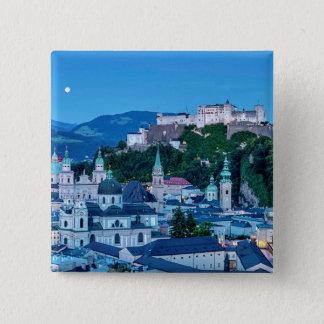 Salzburg city, Austria 15 Cm Square Badge