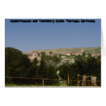 Salzungen with the castle, from Seeberg, Thuringia Greeting Card