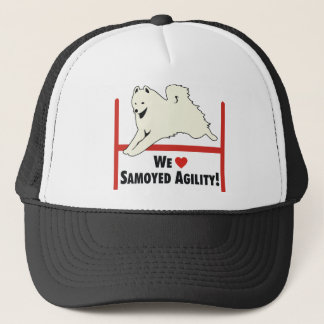Samoyed Agility Love Trucker Hat