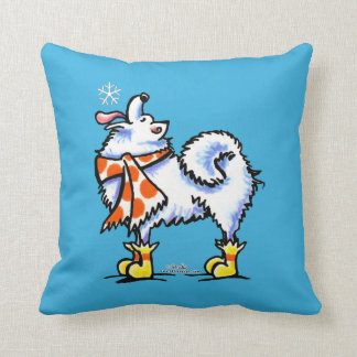 Samoyed American Eskimo Dog Snowflake Cushion