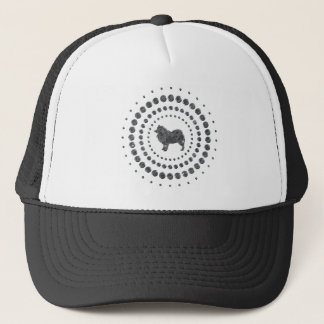 Samoyed Chrome Studs Trucker Hat