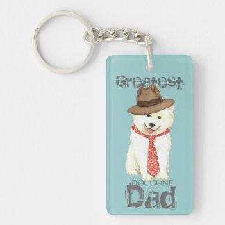 Samoyed Dad Key Ring