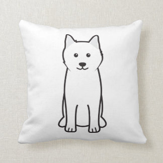 Samoyed Dog Cartoon Cushion