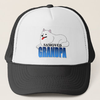 Samoyed Dog Grandpa Trucker Hat
