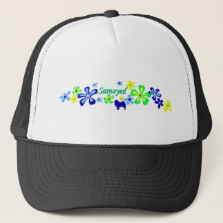 Samoyed Flowers Trucker Hat