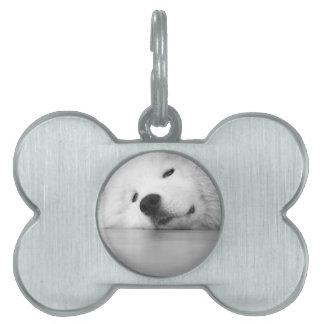 Samoyed Photo Dog White Pet Tags
