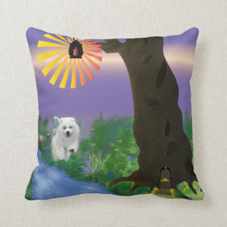 "Samoyed Pupply Polyester Throw Pillow, 16"" x 16"" Cushion"