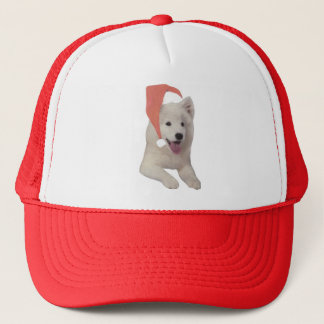 Samoyed Santa Hat