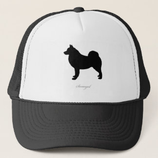 Samoyed silhouette trucker hat