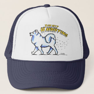 Samoyed Totally Hairifying Trucker Hat