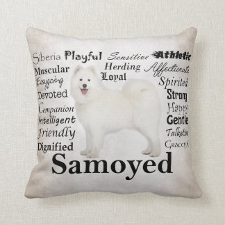 Samoyed Traits Pillow
