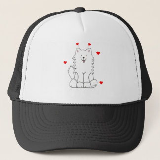 Samoyed Valentine Ears Trucker Hat