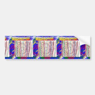 SAMPADA Kids Abstract LINE ART Spectrum Bumper Sticker