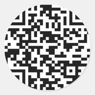 Sample Bitcoin QR Code Classic Round Sticker