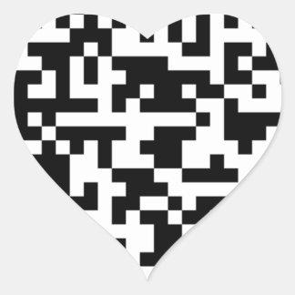 Sample Bitcoin QR Code Heart Sticker