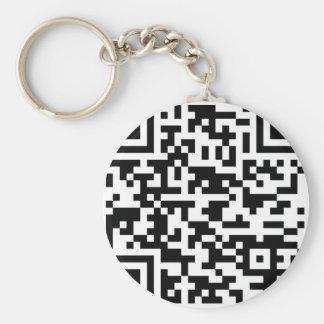 Sample Bitcoin QR Code Key Ring