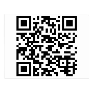 Sample Bitcoin QR Code Postcard