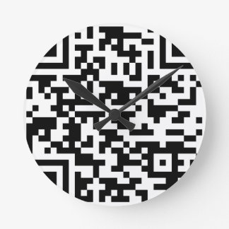 Sample Bitcoin QR Code Round Clock