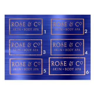 Samples Rose Gold Cobalt Blue Emerald Postcard