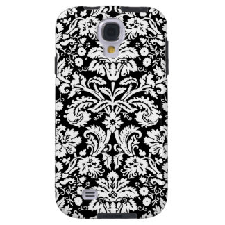 Samsung Black Damask Pattern Galaxy S4 Case