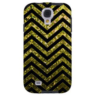 Samsung Galaxy S4 Vibe Zig Zag Sparkley Texture Galaxy S4 Case