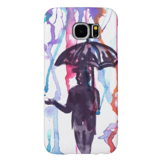 Samsung Galaxy S6, Barely There Watercolor Samsung Galaxy S6 Cases