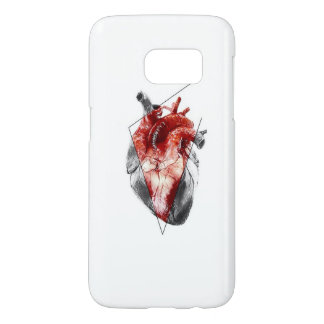 Samsung Galaxy S7, Barely There- Geometric heart