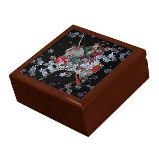 "Samurai Square w/6"" Tile Gift Box, Golden Oak Gift Box"
