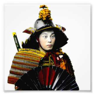 Samurai Warrior of Old Japan Vintage Warrior 侍 Photo Print
