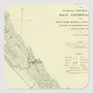 San Andreas Rift near Fort Ross Square Sticker