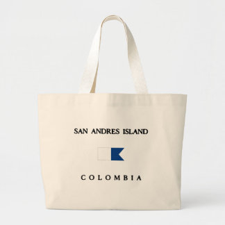 San Andres Island Colombia Alpha Dive Flag Large Tote Bag