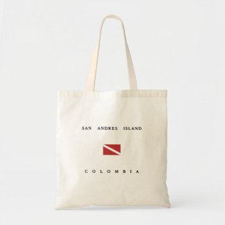 San Andres Island Colombia Scuba Dive Flag Tote Bag