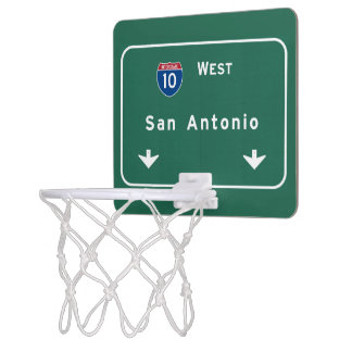 San Antonio Texas tx Interstate Highway Freeway : Mini Basketball Hoop