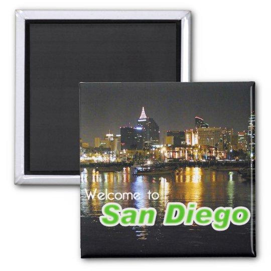 San Diego at Night Magnet