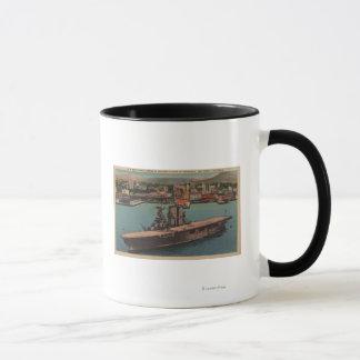 San Diego, CA - View U.S. Navy Aircraft Carrier Mug