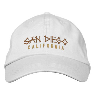 San Diego California Embroidered Hat