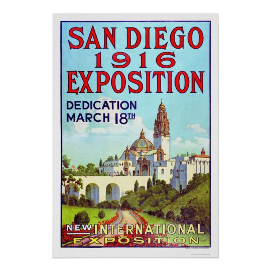 San Diego Exposition 1916 Poster