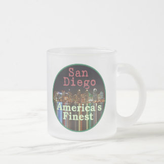 San Diego Frosted Glass Coffee Mug
