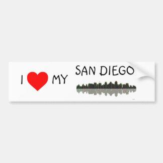 San Diego Skyline Bumper Sticker