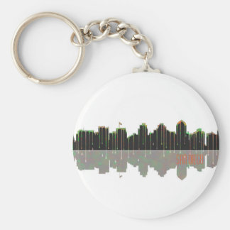 San Diego Skyline Key Ring