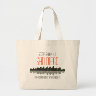 San Diego Skyline Large Tote Bag