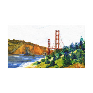 San Francisco and the Beautiful Golden Gate Bridge Stretched Canvas Prints