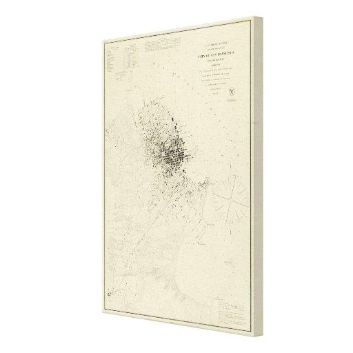San Francisco and Vicinity Gallery Wrap Canvas
